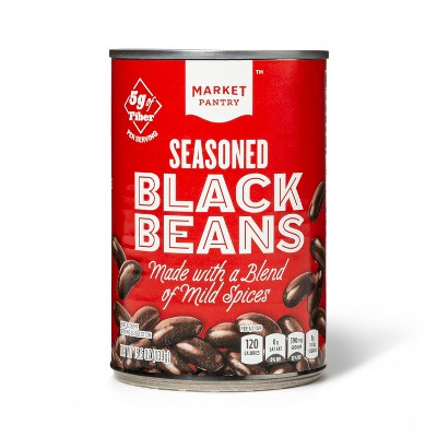 Seasoned Black Beans 15.5 oz - Market Pantry™