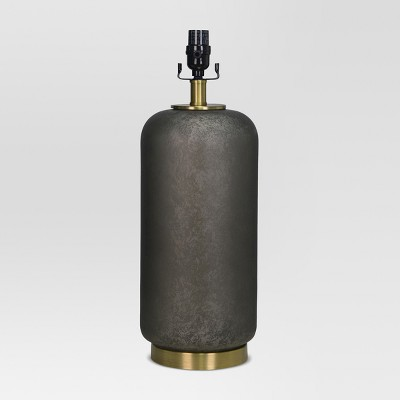 Dark Glass with Brass Detail Large Lamp Base Black Lamp Only - Threshold™