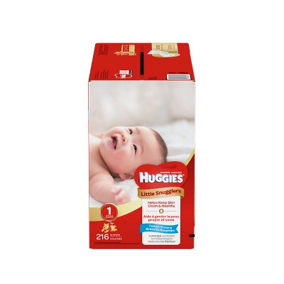 Huggies Little Snugglers Baby Diapers - Size 1 (216ct)