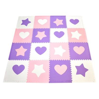 Tadpoles Hearts Playmat Set, Pink