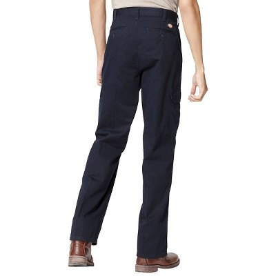 Dickies Men's Loose Straight Fit Cotton Cargo Work Pants- Dark Navy 34x32, Dark Blue