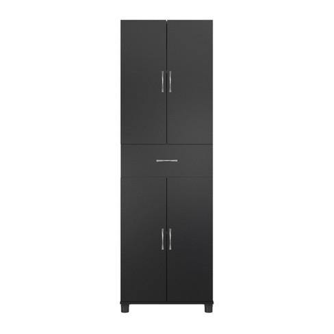 Realrooms Basin Floor Storage Cabinet Kitchen Pantry And Bathroom Organizer Black 24 Drawer Target