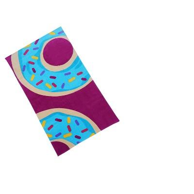 Donut Beach Towel Fuchsia