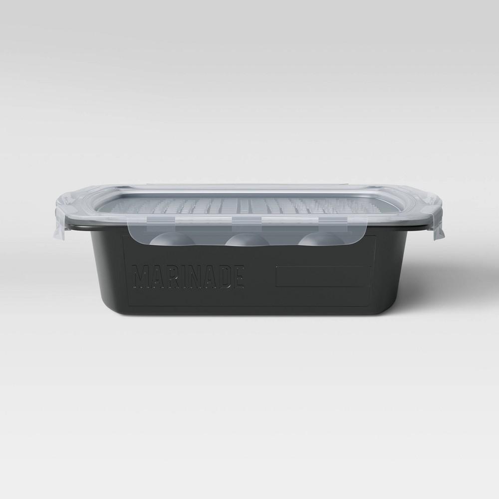 Image of Mini Flip & Flavor Grill Marinade Tray Black - Room Essentials
