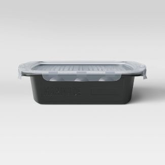 Mini Flip & Flavor Grill Marinade Tray Black - Room Essentials™