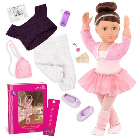 """Our Generation Sydney Lee with Storybook & Outfit 18"""" Ballet Doll - image 1 of 4"""
