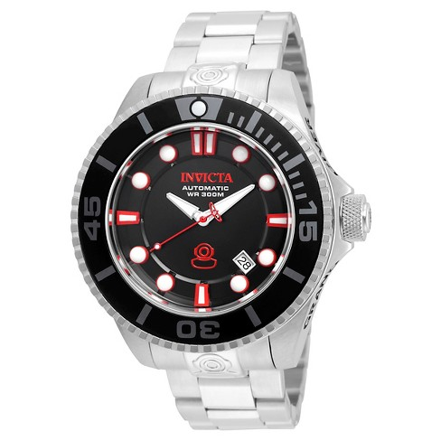 Men's Invicta 19798 Pro Diver Automatic 3 Hand Black Dial Watch - Silver - image 1 of 1