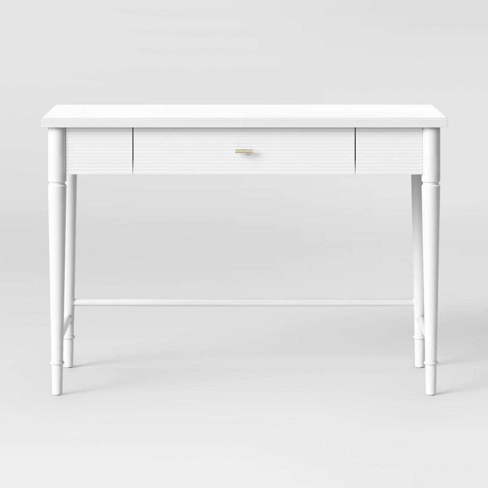 Cambridge Turned Leg Desk Ivory - Threshold