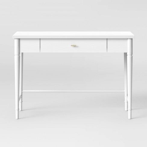 Cambridge Wood Writing Desk with Drawers White - Threshold™ - image 1 of 4