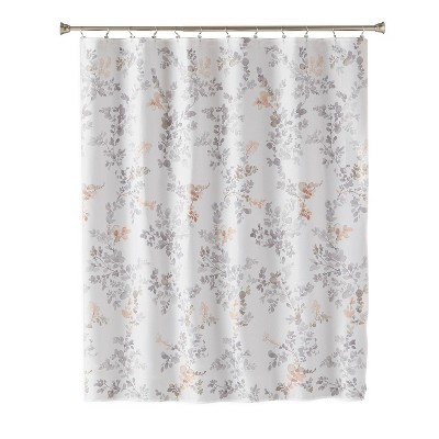 Greenhouse Leaves Fabric Shower Curtain Light Gray - SKL Home