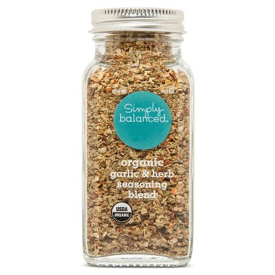 Organic Garlic and Herb Seasoning Blend - 3.4oz - Simply Balanced™