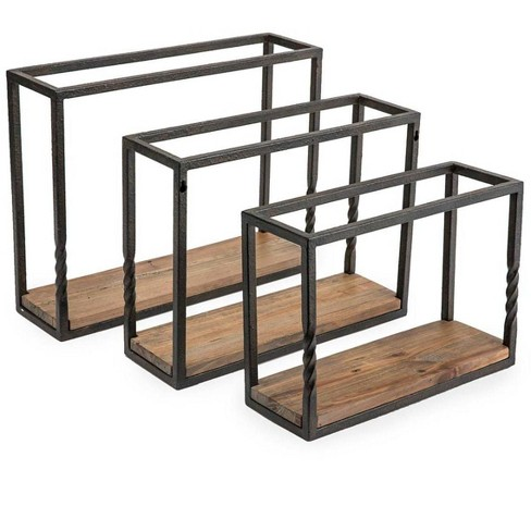 Rustic Reclaimed Wood Wall Shelves