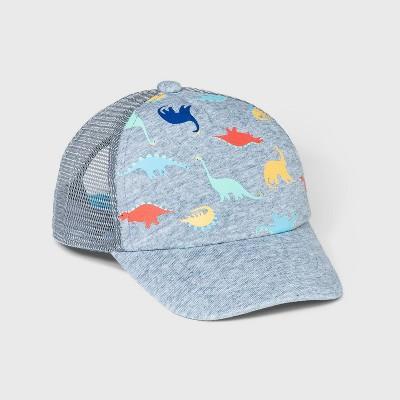 Toddler Boys' Dino Print Baseball Hat - Cat & Jack™ Gray