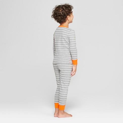 bd9c1d666d Snooze Button Toddler Skeleton Pajama Set - Gray   Target
