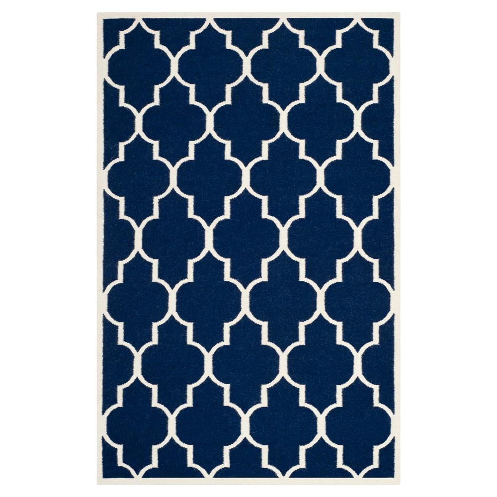 Alarice Dhurry Rug - Navy/Ivory (Blue/Ivory) - (4'x6') - Safavieh