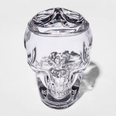 Small Clear Glass Skull Halloween Jar - Hyde & EEK! Boutique™