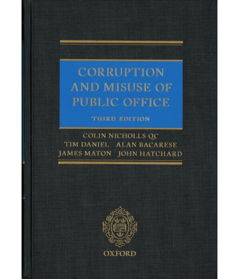 Corruption and Misuse of Public Office -  (Hardcover) - image 1 of 1