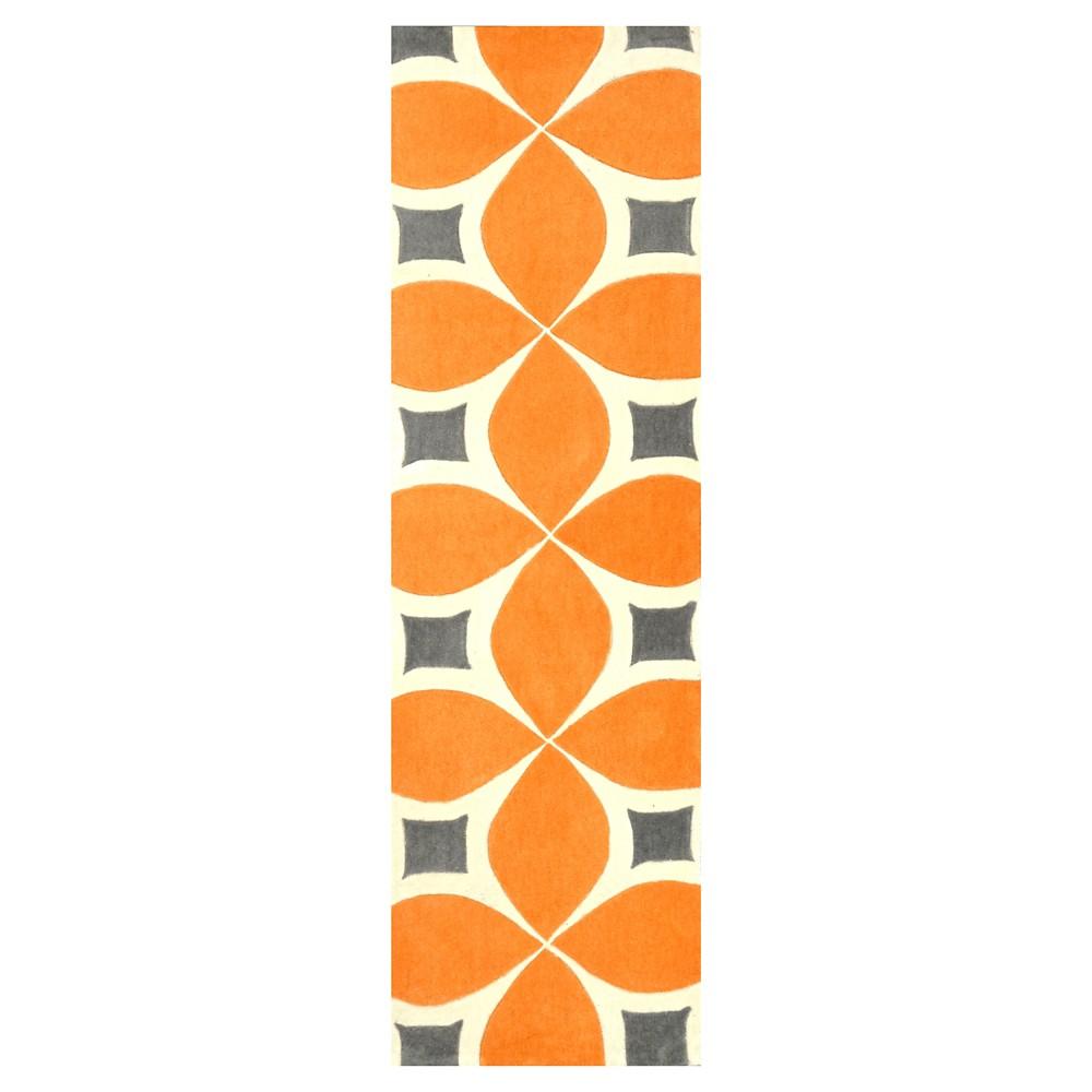 2 39 6 34 X8 39 Runner Hand Tufted Gabriela Rug Deep Orange Nuloom