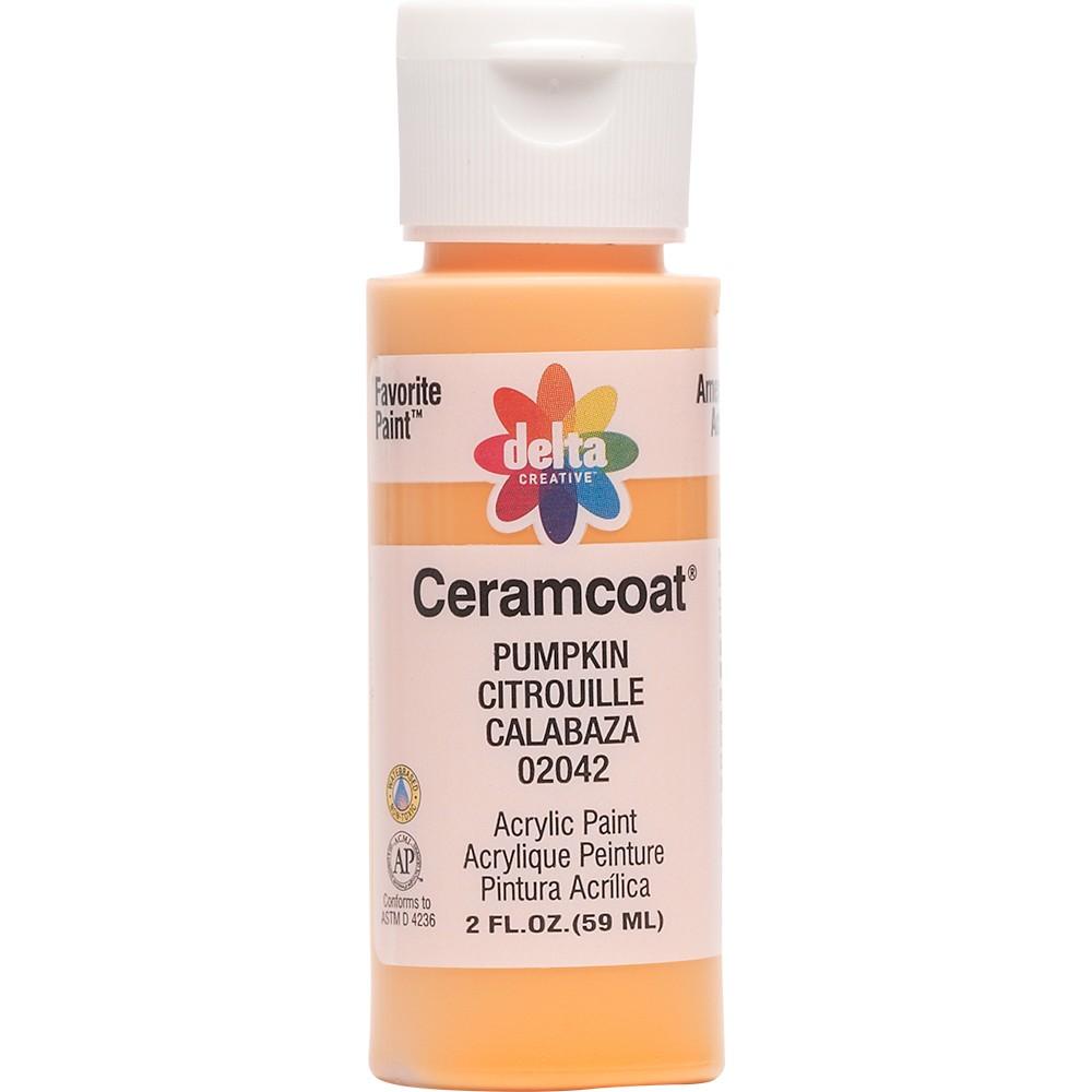 Image of 2 fl oz Acrylic Craft Paint Pumpkin - Delta Ceramcoat