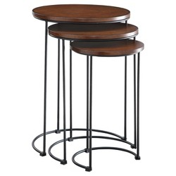 Eloise Nesting Table Set - Chestnut/Black - Carolina Chair and Table