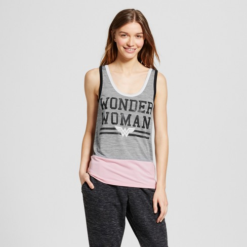 DC Comics Women's Graphic Tank Top - Gray - image 1 of 2