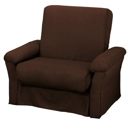 Nirvanna Perfect Futon Sofa Sleeper Chair Size Sit N Sleep