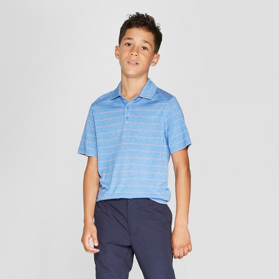 b479cd8fc76a29 Boys  Heather Stripe Golf Polo Shirt - C9 Champion®