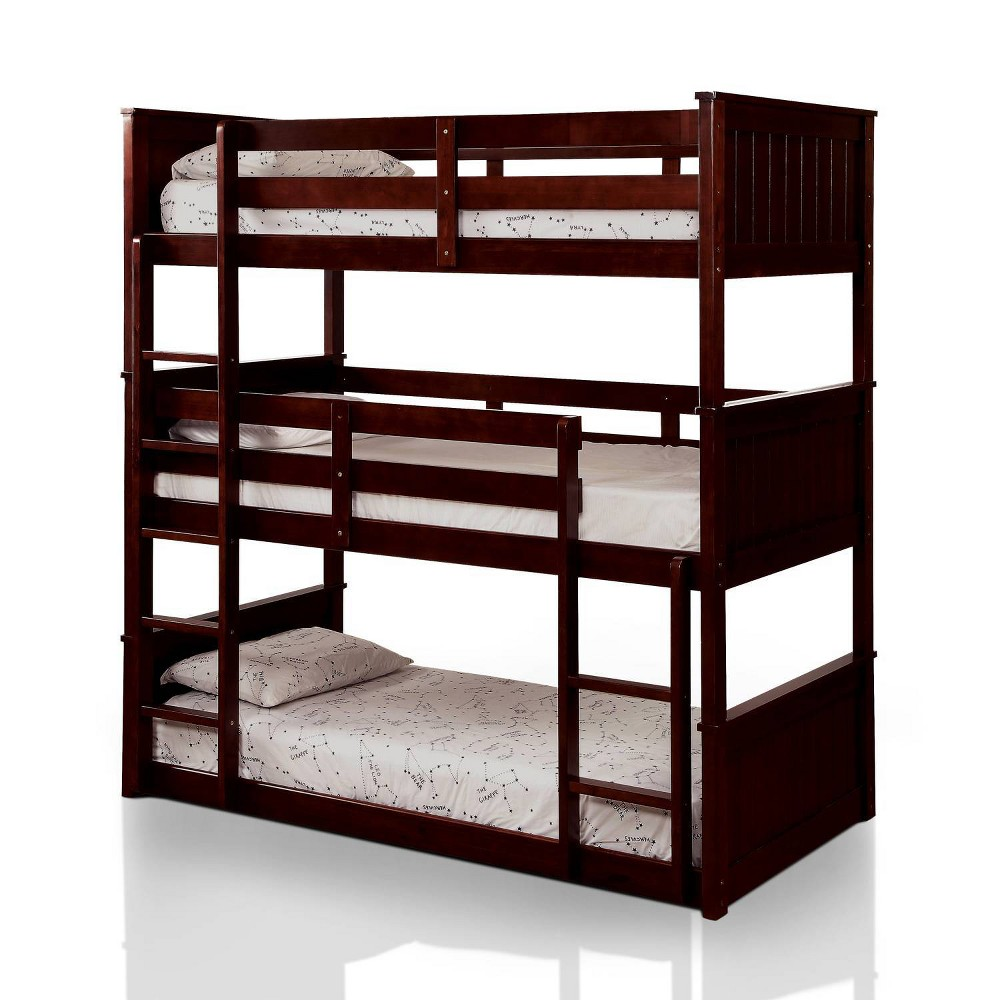 Image of Naymi Kids Twin Over Twin Bunk Bed White - HOMES: Inside + Out, Brown