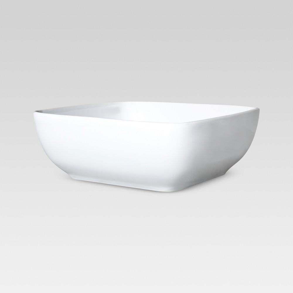 Square Serving Bowl 50oz Porcelain - Threshold Top