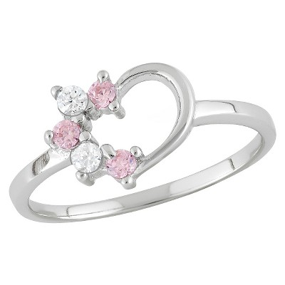 Tiara Kid's 1/10 CT. T.W. Round-Cut Cubic Zirconia Prong Set Ring in Sterling Silver