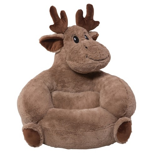 Kids Plush Moose Character Chair - Brown - Trend Lab : Target