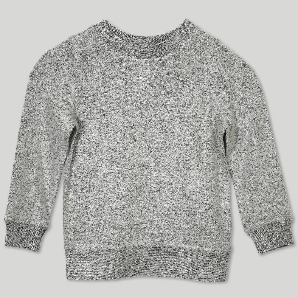 Image of Afton Street Toddler Girls' Hacci Sweatshirt - Gray 12M, Girl's, Size: 12 Months