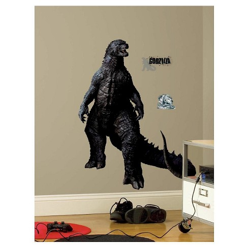 roommates godzilla peel and stick giant wall decals : target