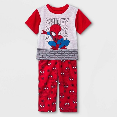 Toddler Boys' 2pc Marvel Spidey Pajama Set - Red