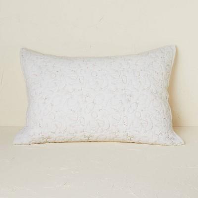 Dove Stitch Quilt Sham Off-White - Opalhouse™ designed with Jungalow™