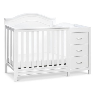 DaVinci Charlie 4-in-1 Convertible Mini Crib and Changer Combo - White