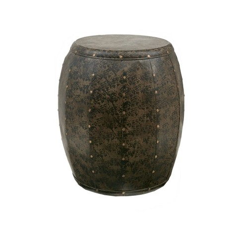 Wells Metal Accent Drum Table - image 1 of 4