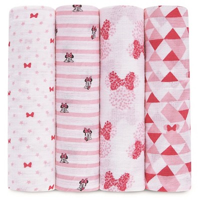 Aden® by Aden + Anais® Muslin Swaddle - 4pk - Disney - Minnie