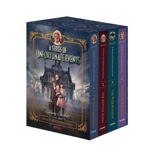 A Series of Unfortunate Events #1-4 Netflix Tie-In Box Set - (A Unfortunate Events) by  Lemony Snicket - image 1 of 1