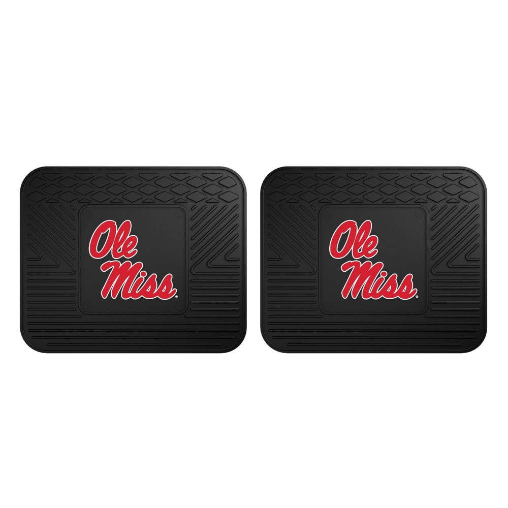Ncaa University Of Ole Miss Rebels Vinyl Utility Mat Set 2pc