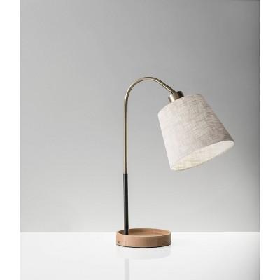 Jeffrey Table Lamp Steel - Adesso