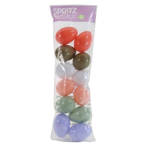 12ct Easter Fillable Plastic Eggs - Spritz™ - image 1 of 2