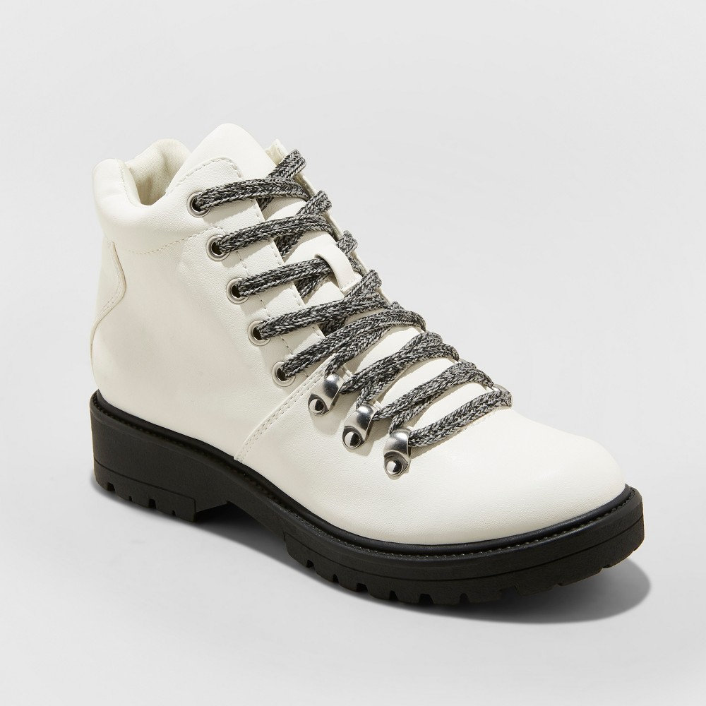 Women's Karri Lace Up Hiker Boots - Universal Thread White 12