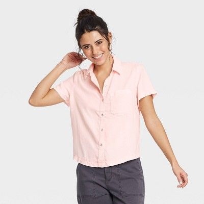 Women's Short Sleeve Denim Shirt - Universal Thread™