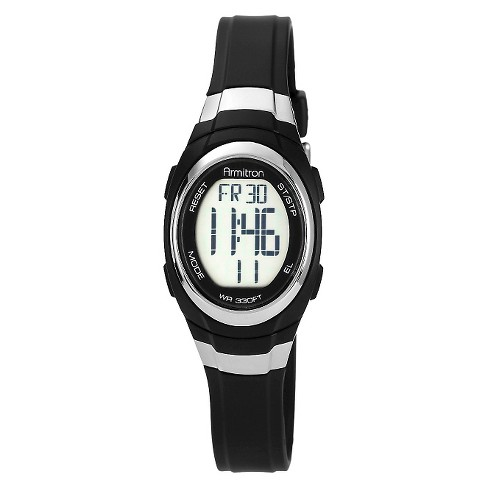 Armitron Sport Digital Chronograph Resin Strap Watch - Black - image 1 of 1