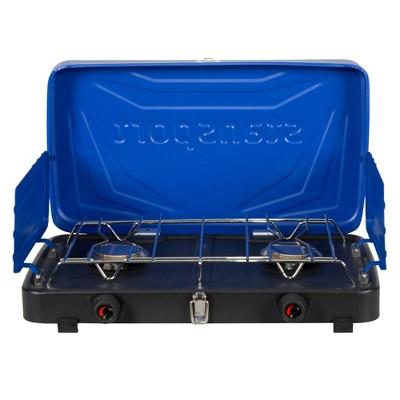 Stansport Double Burner Propane Stove Blue