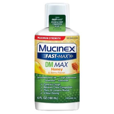 Mucinex Fast-Max DM Max Adult Liquid - Honey & Berry - 6 fl oz