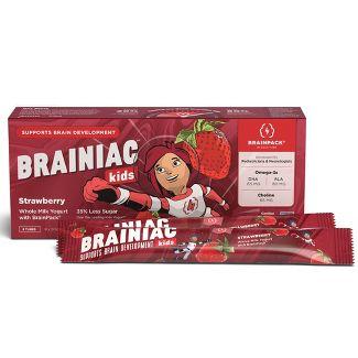 Brainiac Kids' Strawberry Probiotic Yogurt - 8ct/2oz Tubes