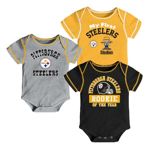 48130db19 NFL Pittsburgh Steelers Boys  Newest Fan 3pk Bodysuit Set   Target