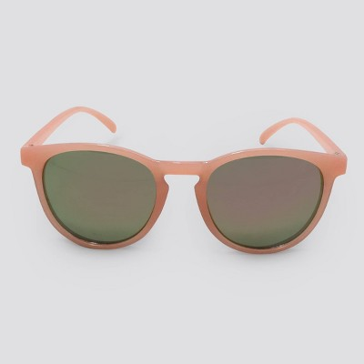 Women's Round Plastic Silhouette Sunglasses - Wild Fable™ Pink